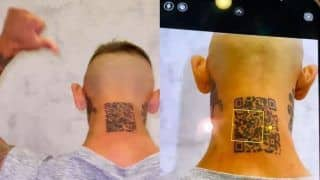 Man Gets QR Code Tattooed on Neck to Open Instagram Page, Later Realises it Doesn't Work | Watch