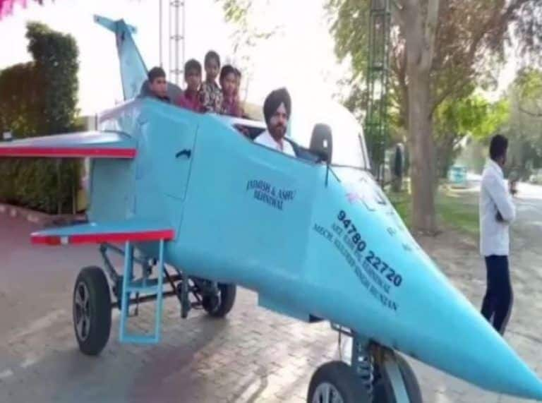 Architect Designs Jet-shaped Vehicle that Runs at 20km/h Speed, Names it 'Punjab Rafale'
