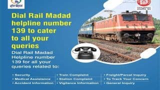 Indian Railway/IRCTC: ध्यान दें....बदल गया है रेलवे का Helpline नंबर, अब बस डायल करें 139