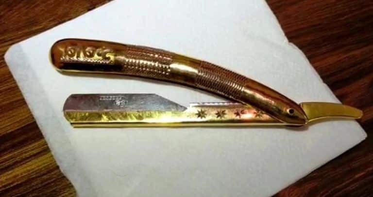 This Pune Salon Owner is Using a Golden Razor Worth ₹ 4 Lakhs to Attract Customers