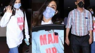 Rhea Chakraborty Has a Message For All, Wears Sweatshirt That Says 'Man Up' - Check Pics