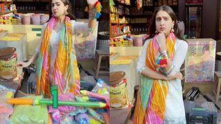 Holi 2021: Sara Ali Khan ने वीडियो शेयर कर दी होली दी बधाई, देखें एक्ट्रेस का फनी अंदाज- Video Viral