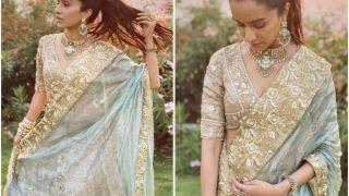 Shraddha Kapoor Looks Like A Dream in Masi Padmini Kohlapure's Custom-Made Lehenga For Cousin's Wedding
