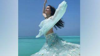 Shraddha Kapoor ने ब्लू लहंगे में लहरों की तरह लहरा कर किया डांस,  VIDEO हुआ VIRAL
