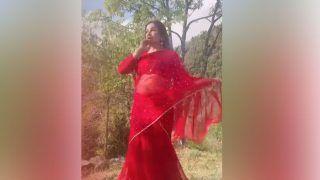 लाल साड़ी में मैना बनकर नाचीं  Sonali Phogat, जानें किसको बोलीं- तू मेरे दिल का चैना?