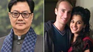 'Stick To Duties'! Kiren Rijiju Gives Strong Reply To Taapsee Pannu's Boyfriend Mathias Boe As He Complains of IT Raid