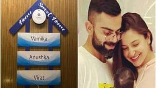 India vs england virat kohli anushka sharma baby vamika gets her own nameplate in ahmedabad 4500999