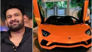 Prabhas Turns Heads As He Rides Rs 6 Crore Lamborghini in Hyderabad, Fans Go Crazy | Watch Viral Video