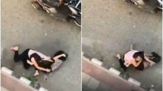 Viral Video: Crazy Fight Breaks Between 2 Girls on Road As They Thrash & Pull Each Other's Hair | Watch