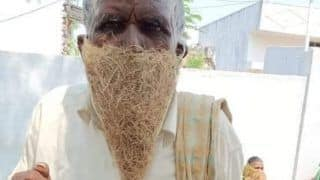 Unable to Afford Mask, Telangana Man Goes to Pension Office Wearing Bird-Nest on His Face
