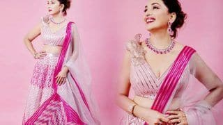 Madhuri Dixit in Rs 1,65,000 Pink Lehenga is Straight Out of Fairytale - Check Mesmerising Pics