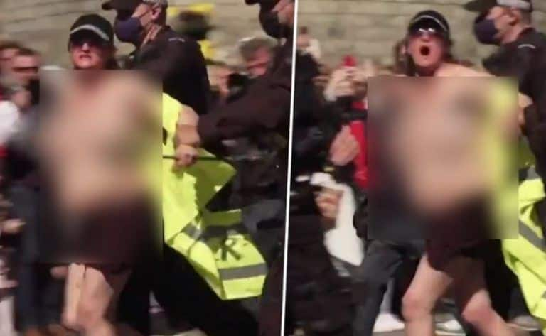 Topless Woman Who Shouted 'Save The Planet' During Prince Philip's Royal Funeral Arrested