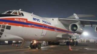 2 RussianFlights With 20 Oxygen Concentrators, 75 Ventilators & Essential Items Land at Delhi Airport | Watch