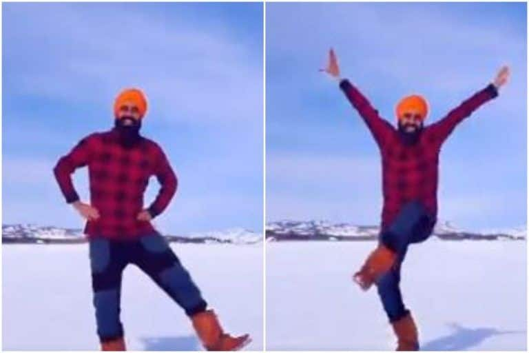 Man Does Bhangra on a Frozen Lake After Receiving 2nd Dose of Covid-19 Vaccine, Video is Pure Joy | Watch