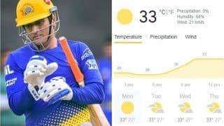 IPL 2021, CSK vs RR Match 12 in Mumbai: Weather Forecast, Pitch Report, Predicted Playing XIs, Toss Time, Squads For Chennai Super Kings vs Rajasthan Royals