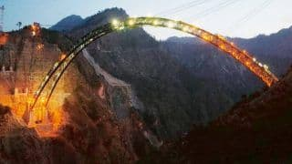Monday Motivation: Engineers Attempt 5.3 Metre Metal Fit To Complete Chenab Arch in Most Treacherous Terrain