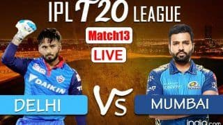 LIVE | IPL 2021, Match 13: Delhi, Mumbai Look to Outsmart Each Other in 'Battle of Equals'