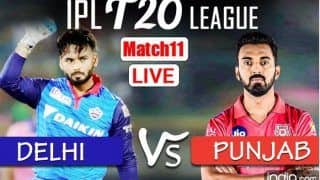 LIVE IPL 2021 DC vs PBKS Live Cricket Score, Today's Match Updates: Delhi Capitals Hold Edge Over Punjab Kings as Anrich Nortje Returns