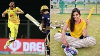 Ipl 2021 kkr vs csk malti chahars naughty comment after deepak chahar take 4 wicket haul against kolkata knight riders 4604984