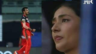 'True Love' - Dhanashree Gets Emotional as Chahal Picks His First Wicket in IPL 2021