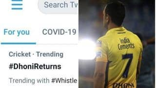 #DhoniReturns Becomes India's No.1 Trend Before CSK vs DC Humdinger