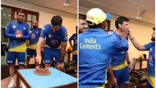MS Dhoni And CSK Celebrate Coach Stephen Fleming's Birthday Ahead of IPL 2021 | WATCH VIDEO
