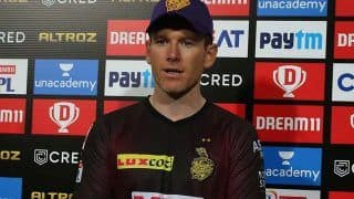 Eoin morgan after 4th consecutive win we were 40 run short batsman didnt show intent ipl 2021 rr vs kkr 4612844