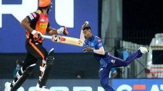 IPL 2021, MI vs SRH: Hardik Pandya के Bullet Throw से डेविड वार्नर-अब्दुल समद हुए रनआउट, वायरल हुआ VIDEO