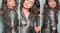 मैटेलिक ग्रे ड्रेस में Hina Khan ने कराया फोटोशूट, ढाया कहर....खुद को बताया Butterfly- See Pictures