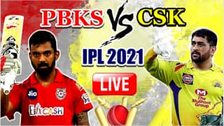 LIVE IPL 2021 PBKS vs CSK Live Cricket Score, Today's Match 8 Updates: Dhoni-led Chennai Super Kings Aim to Shed Off Rustiness Against Punjab Kings