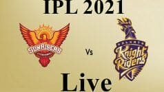 IPL 2021, SRH vs KKR Live: परेशानी में Sunrisers Hyderabad, सलामी बल्लेबाज लौटे पवेलियन