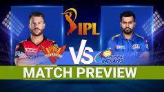 IPL 2021 सनराइजर्स हैदराबाद vs मुंबई इंडियंस मैच प्रीव्यू: पिच रिपोर्ट और मौसम का हाल, Video जानिए क्या हो सकती है Predicted Playing 11?