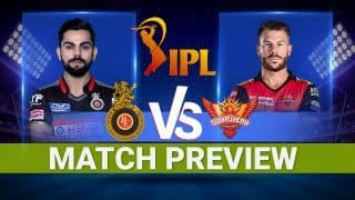 Royal Challengers Bangalore vs Sunrisers Hyderabad IPL 2021: Playing XI, Chennai Weather and Pitch Report