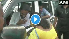 VIDEO: गर्मजोशी में बीजेपी की महिला नेता ने विरोधी उम्मीदवार ISF प्रमुख की ओर बढ़ाया हाथ, लेकिन....