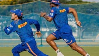 Mumbai Indians' Ishan Kishan, Keiron Pollard Participate in Unique Race Ahead of IPL 2021 Opener Against RCB in Chennai