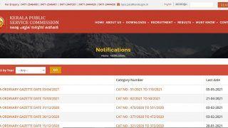 Kerala PSC Recruitment 2021: Kerala Public Service Commission Notifies 60 Vacancies, Check Details