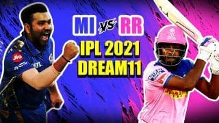 LIVE MI vs RR IPL 2021 Live Cricket Score, Today Match Latest Updates: Mumbai Look to Sort Middle-Order Woes, Rajasthan Eye Return to Winning Ways