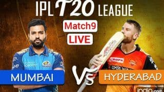 LIVE IPL 2021 MI vs SRH Match 9 Live Cricket Score, Today's Match Updates: Sunrisers Hyderabad Fret Over Right Combination Against Formidable Mumbai Indians