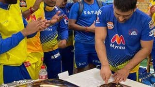 IPL 2021: Chennai Super Kings Celebrated Skipper MS Dhoni's Record 200th IPL Appearance For CSK After Win Over Punjab | WATCH VIDEO
