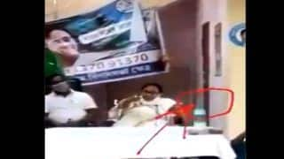 BJP, TMC Engage in War of Words Over Video Showing Mamata Shaking Her Plastered Leg | Watch