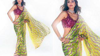 Shilpa Shetty Kundra Shines Bright Like A Diamond in A Stunning Sequin Saree, Husband Raj Kundra Says 'Mine'