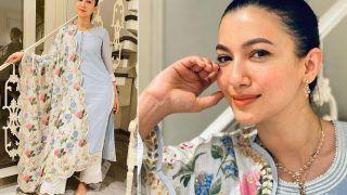 Gauahar Khan in Rs 14K Sky Blue Chanderi Suit is Spreading Ramadan Vibes