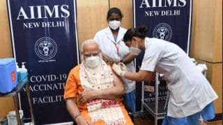 'Vaccination Among Few Ways to Defeat COVID-19': PM Modi Takes Second Dose at AIIMS Delhi | WATCH