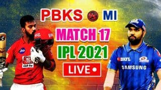 LIVE | IPL 2021, Match 17: Mumbai Seek Consistency; Punjab Eye Return to Winning Ways