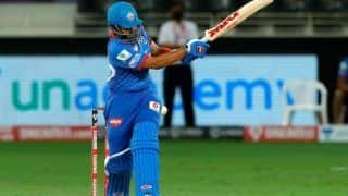 Prithvi shaw becomes 2nd in ipl history to hit six fours in an over register fastest fifty of ipl 2021 dc vs kkr 4625438