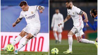 Real Madrid 2-1 Barcelona, El Classico, LaLiga 2021: Karim Benzema, Tony Kroos Score as Los Blancos Edge Atletico Madrid to go Top of The Table