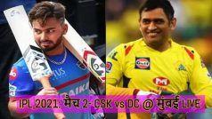 CSK vs DC IPL 2021 LIVE BLOG: छक्के के साथ सुरेश रैना ने पूरा किया अर्धशतक, CSK 117/3