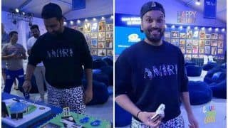 Rohit Sharma Birthday: How Mumbai Indian Skipper Celebrated Turning 34 After Win Over Rajasthan in IPL 2021 | SEE PICS