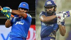 Live Score and Updates, DC vs MI, IPL 2021: शिखर धवन 45 रन बनाकर आउट, क्रुुणाल पांड्या ने पकड़ा शानदार कैच