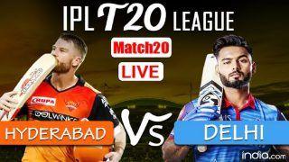LIVE SRH vs DC IPL 2021 Live Cricket Score And Updates: Pant's Delhi Capitals Look to Continue Winning Momentum Against Hyderabad